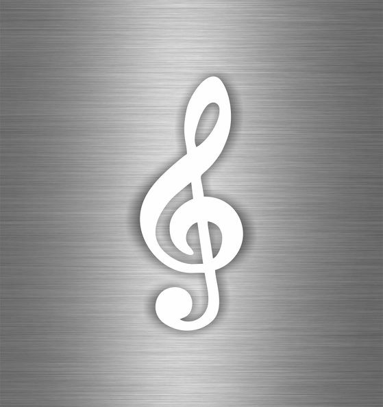 Sticker decal wall car moto funny surf music clef note