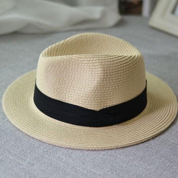 ac05939df Summer unisex sun hat casual Panama straw hat women wide brim Beach Foldable