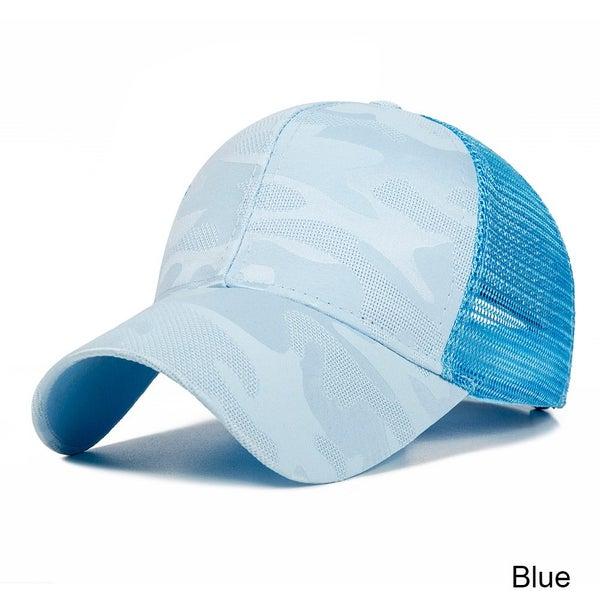 9be4d7d8036114 New Design Ponytail Caps For Women Camo Pattern Mesh Cap Summer Baseball Cap    Trade Me