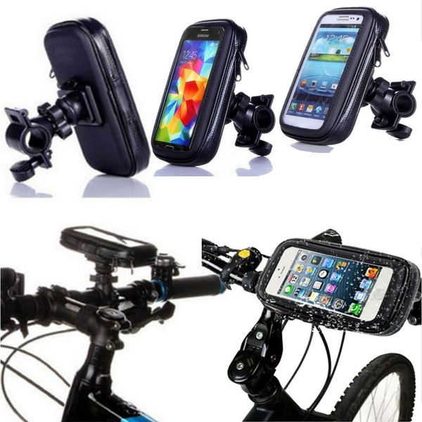 cheaper 876a0 a5c62 Waterproof Bike Handlebar Mount Holder For iPhone 6 7 8 X Samsung S4 S3 S5  S6 S7