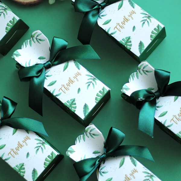 Green Paper Candy Boxes Wedding Gift Box Birthday Party Wedding Decoration