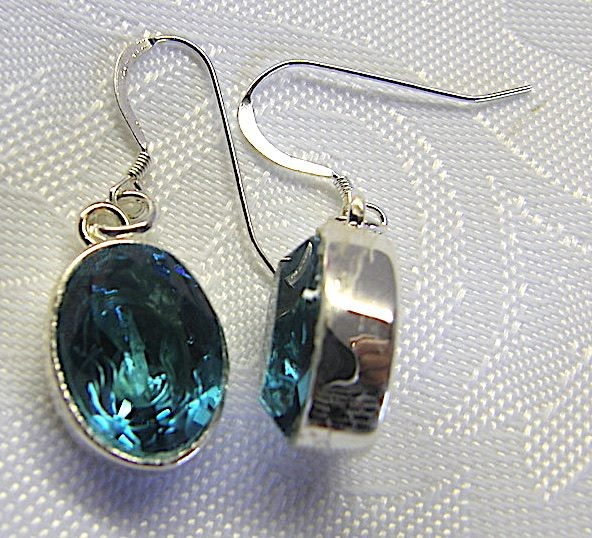 749ff39a305eb AQUAMARINE & SILVER SWAROVSKI CRYSTAL DROP EARRINGS