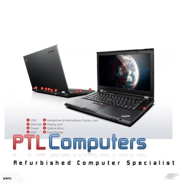Lenovo ThinkPad T430s Core i5 2 6Ghz 4GB 120GB SSD DVDRW W10P WEBCAM WIFI