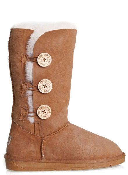aadfa0daa0a Ugg Boots Size 8 Tall Button Classic Australian Sheepskin Women Men Shoe  Winter