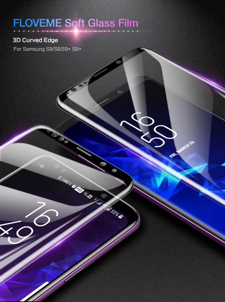 Soft Screen Protector Film For Samsung Galaxy S9 S9+ 3D Full Cover FLOVEME