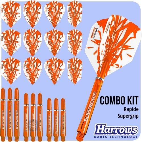 Harrows Rapide Orange Slim Dart Flights