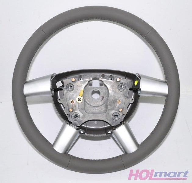 Holden WL Statesman Leather Steering Wheel Light Grey Reed