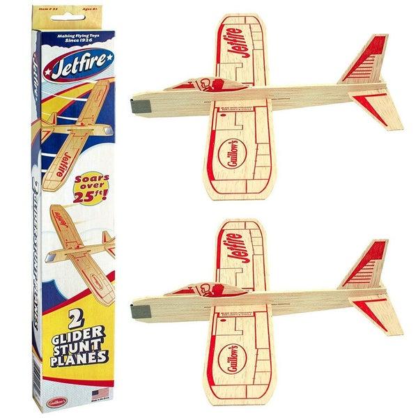 2pc Guillow's Jetfire Glider Twin Airplanes Stunt Planes Toys Kids Children  8y+