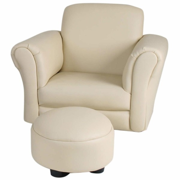 Pleasing Valco Baby Kiddy Sofa Kids Couch Seat W Ottoman Foot Rest Lounge Chair Ivory Machost Co Dining Chair Design Ideas Machostcouk