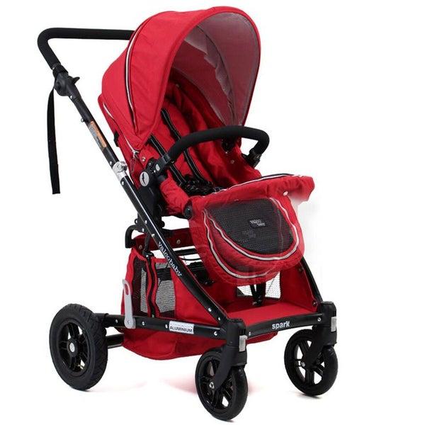 Valco Baby Stroller Pram For Newborn Infant Backward Forward Facing Foldable Red