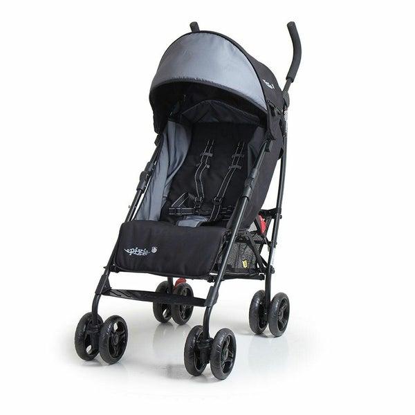 Vee Bee Pixie Foldable Stroller Pram For Baby Infant Toddler Recline Black Grey