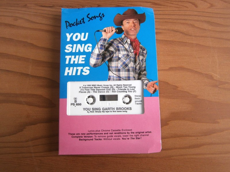 Pocket Songs You Sing The Hits of GARTH BROOKS cassette tape backing tracks