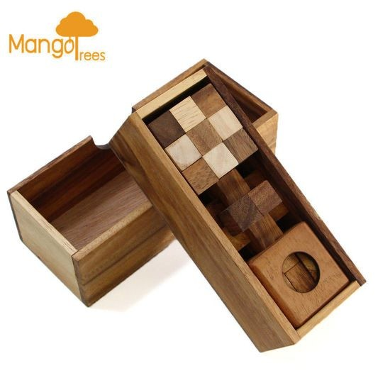 Wooden Puzzle Brain Teaser 3 Puzzles Deluxe Gift Box Set 1 Gp701