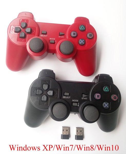 2pcs wireless gamepad PC game controller 2 4Ghz joystick double vibration
