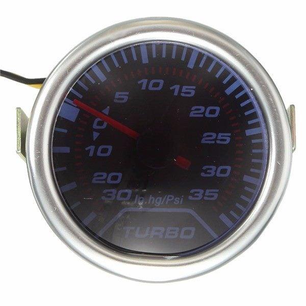 52mm Universal Blue Led Pointer Turbo Boost Gauge Meter Psi