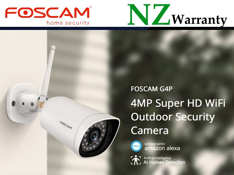 FOSCAM IP CAMERA G4P WiFi 4MP (2K) HUMAN DETECTION
