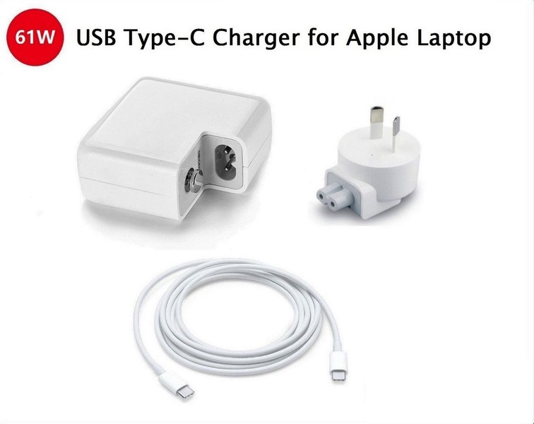 61W Thunderbolt 3 Ports Macbook Charger USB-C Charger for Macbook Pro