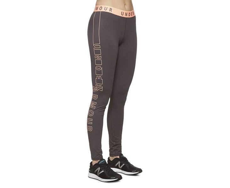 new high quality famous designer brand discount Under Armour Women's Graphic Legging Grey Orange Pants