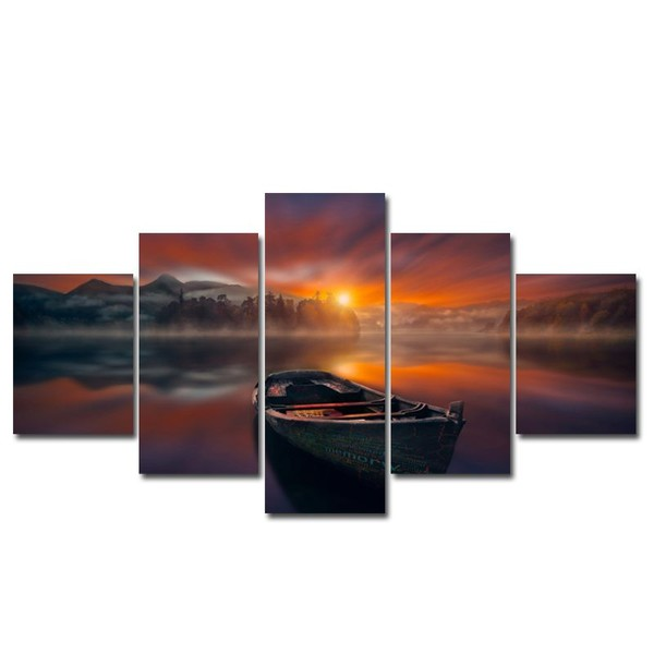 Canvas Print-Large 5 piece wall art-Boat