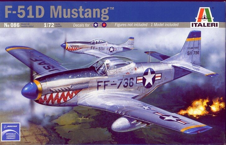Italeri - 1/72 P-51D Mustang Plastic Model Kit [1-086]