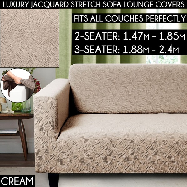Pleasant Super Stretch Sofa Slip Covers Couch Cover Lounge Covers Sofa Covers Slipcovers Caraccident5 Cool Chair Designs And Ideas Caraccident5Info