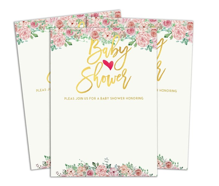 Baby Shower Invitation Card Fill Write In Blank Invites Printed Party Supplies