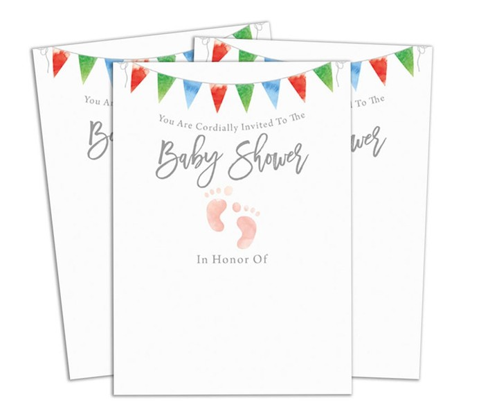Invitation Card Fill Write In Blank Baby Shower Invites Printed Party Supplies