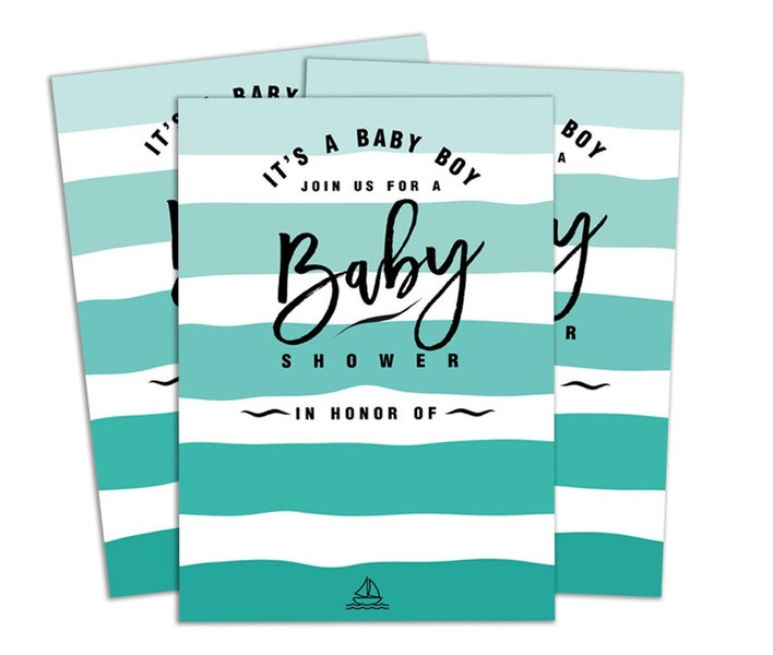 28 Pcs Baby Shower Invitation Card Fill Or Write In Blank Invites Printed