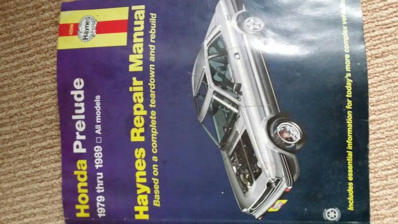 Sensors Haynes 42040 Repair Manual Honda Prelude 1979-1989 ...