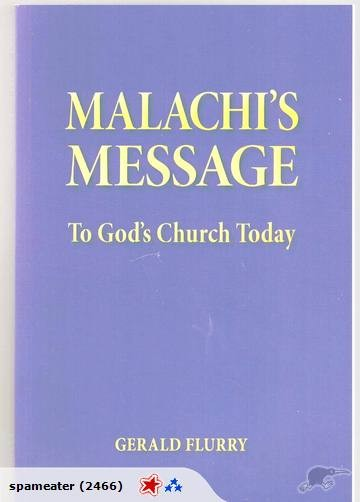 Malachis Message To Gods Church Today G Flurry Trade Me