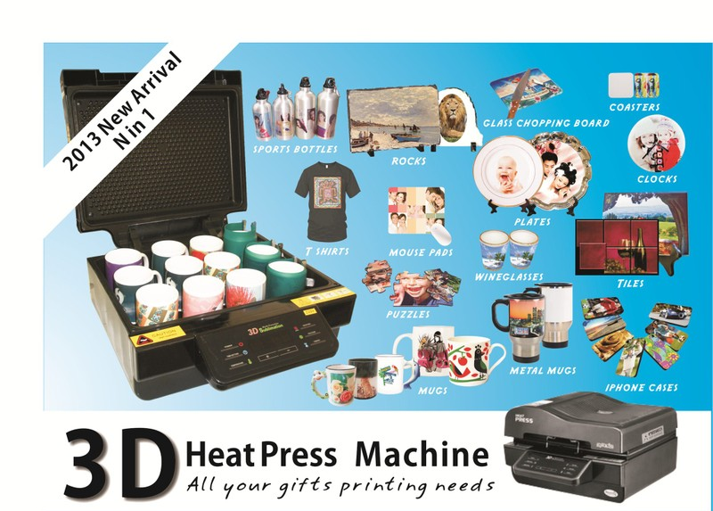 3D HEAT PRESS MACHINE-2016 NEW ARRIVAL