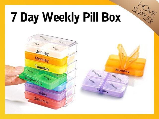 2 X Pill Tablet Mini Box Organizer Free Post Trade Me