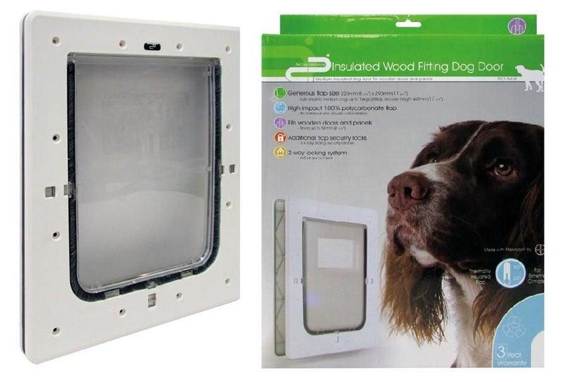Dog Door Pet Corp Wood Fitting Medium Trade Me