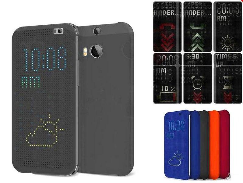 new styles 30b1a fbc1d HTC Butterfly 2 case dot view flip case+Pen