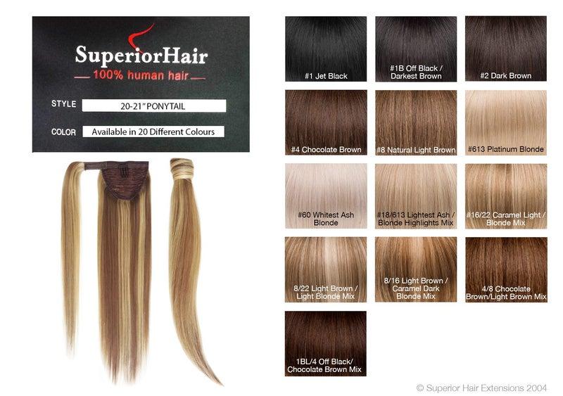 Superior hair human hair ponytail 20long 13col trade me click to enlarge photo pmusecretfo Images