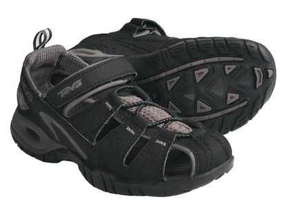 46b14e73f235 TEVA DOZER 3 BLACK SANDALS - Kids US10