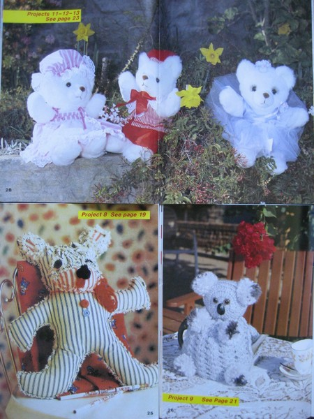 TEDDY BEARS Clothes Quilt Applique SEWING KNITTING CROCHET Craft PATTERNS  +++