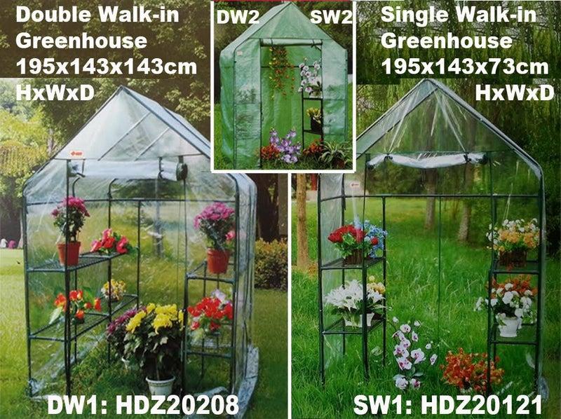 Greenhouse HDS20208 Double Walkin clear