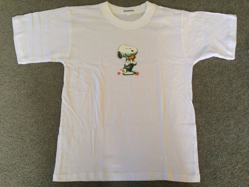 8fa23ab27ae6ce Girls white SNOOPY t shirt 42cm across chest | Trade Me