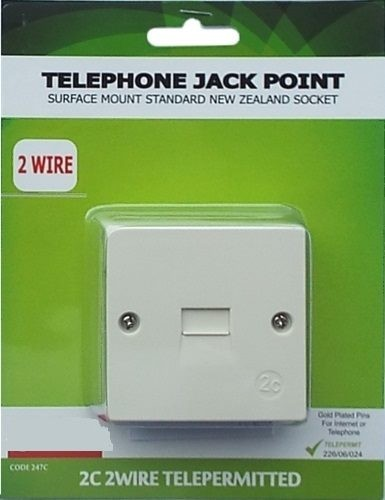Strange Telephone Surface Wall Socket New 2C Connection Trade Me Wiring 101 Vieworaxxcnl