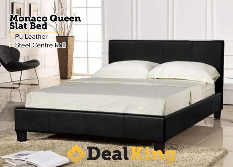 alert - Leather Queen Bed Frame