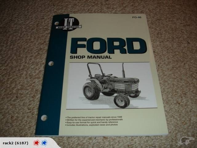 Ford Shop Manual 1120 1220 1320 1520 1720 19202120