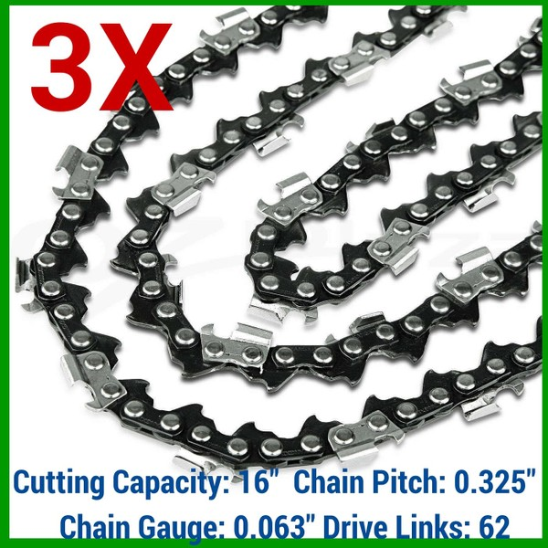 For Stihl 021 025 MS250 16/'/' 0.063 Gauge .325 Pitch 62 DL Chain