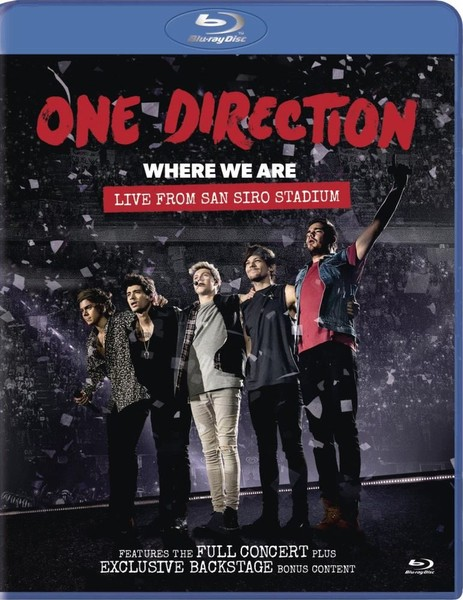 One Direction Where We Are Live From San Siro Stadium Blu Ray
