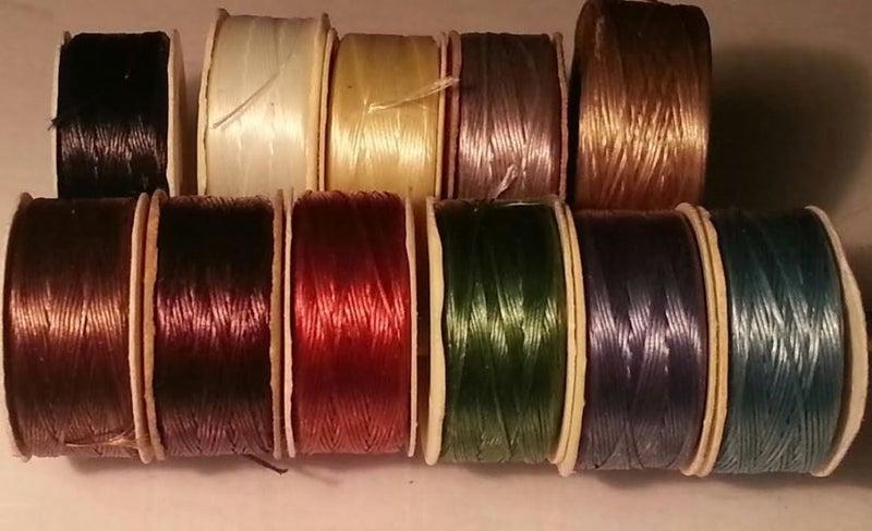 Nymo D beading thread (11 colour choices) from NZ