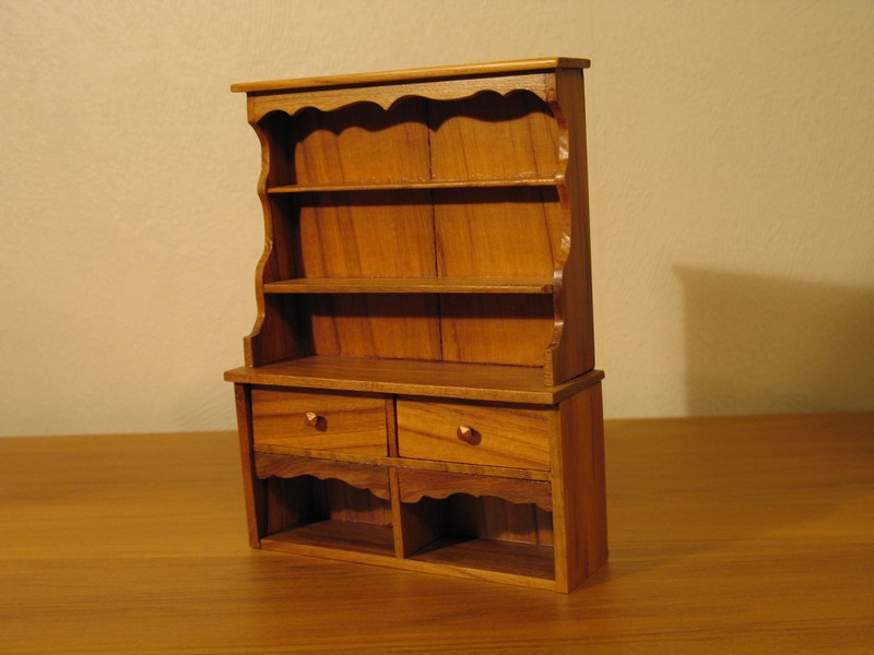 Wooden Miniature Furniture - Tableware Cabinet | Trade Me
