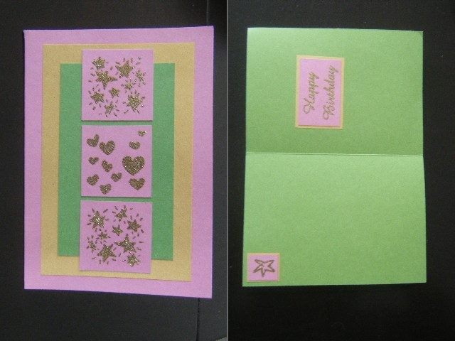 Selection Of 5 Hand Made Birthday Cards