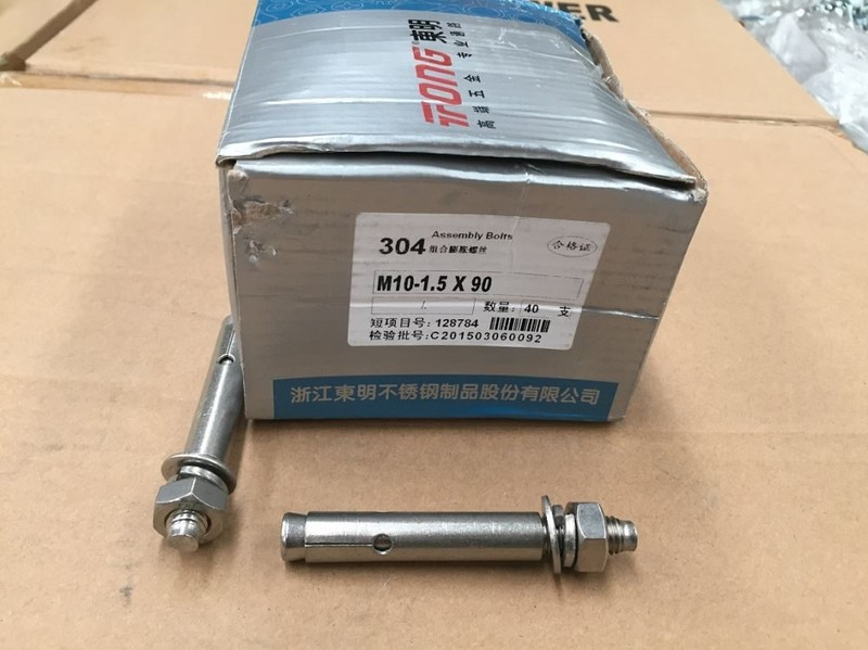 Anchor bolt Stainless(304) M10 X 90 - 40 Pack