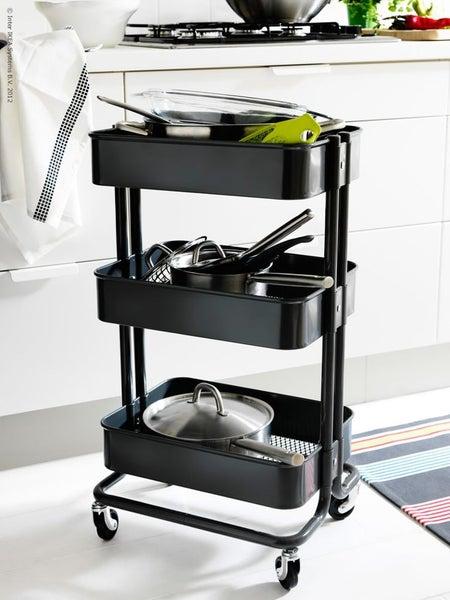 IKEA RASKOG Kitchen Trolley, black