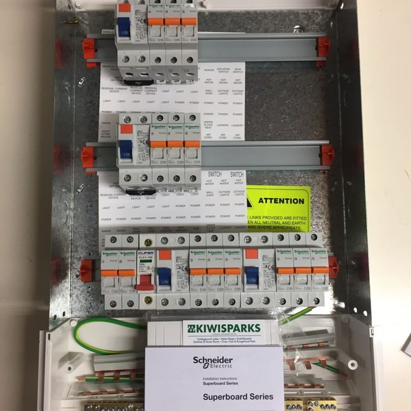 Switchboard PDL 45way 4 X RCD 14 X MCB Best Value Trade Me